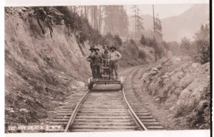 Corvallis & Eastern RR. Chinese on handcar.    #891-B-12,  #238-A